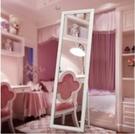 實木全身鏡子落地鏡掛牆穿衣鏡服裝店宿舍試衣鏡(標準尺寸)