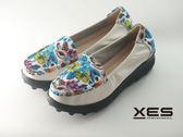 XES 花彩圖懶人鞋 優質時尚 女款 白色