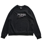 PUMA GLOW 黑 炫光logo 大學T (布魯克林) 59627501