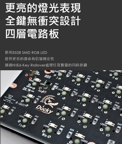 [地瓜球@] Ducky ONE 2 mini RGB 60% 機械式 鍵盤 PBT Cherry 銀軸 靜音紅軸