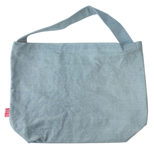 又敗家@日本San-X角落生物刺繡牛仔布包肩揹包CU84301附暗袋牛仔包手提包肩背包肩背袋電繡
