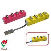 [富廉網] 嘻哈部落 SeeHot (SH-H809) 4 埠USB 2.0 HUB集線器