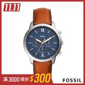 FOSSIL NEUTRA CHRONOGRAPH 棕色皮革男錶 44mm