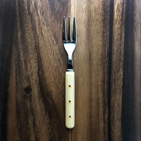 日本 MEISTER HAND ASIN原木蛋糕叉子2入組-點點