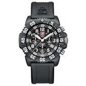LUMINOX 雷明時 海豹部隊三眼系列 經典腕錶-黑x白時標/44mm