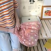 側背包網紗刺繡小雛菊可愛購物袋手提包包【匯美優品】