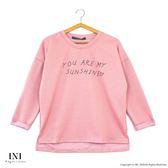 【INI】休閒穿著、柔色優雅好迷人上衣.粉色
