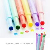 ✿現貨 快速出貨✿【小麥購物】糖果色 印章螢光筆【Y140】 螢光筆 印章 彩色筆 造型筆