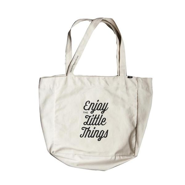 Moreover原創設計大容量簡約純棉帆布袋環保袋單肩布包手提袋男女