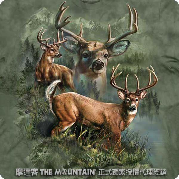 【摩達客】 (預購) 美國進口【The Mountain】自然純棉系列 野鹿拼貼 T恤(10413045117a)