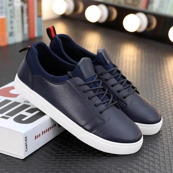 小白鞋板鞋男士春季韓版潮流百搭男鞋潮鞋學生鞋子白色休閒鞋   遇見生活