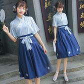 古裝改良漢服女夏裝中國風套裝襦裙元素風 LQ4749『夢幻家居』