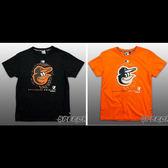 MLB大聯盟 純棉T恤 短T 大LOGO 點點款 金鶯隊 黑/橘2色 # 5530218- ☆speedkobe☆