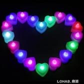 電子蠟燭燈浪漫LED心形蠟燭求愛求婚道具表白生日布置創意跨年燈 樂活生活館