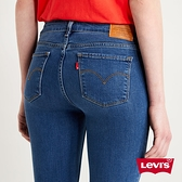 Levis 女款 711中腰緊身窄管牛仔褲 / 彈性布料 / 天絲棉 / 精工深藍染水洗