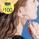 (現貨)PUFII-耳環 簡約時尚金屬大圓圈耳環- 0511 限+預 春【CP12711】