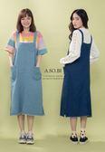 A-SO-BI韓系-裙襬鬚鬚邊口袋牛仔吊帶背心裙洋裝【R20145-14】