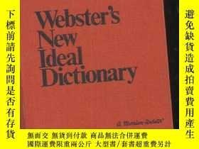 二手書博民逛書店webster   s罕見new ideal dictionary【韦伯斯特新理想词典】1973版 精装Y1