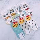 女襪 韓國襪子 食物襪 熱狗 漢堡 微笑點點襪 短襪 船型襪