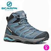 【速捷戶外】義大利 SCARPA MAVERICK MID GTX 63090-202 女中筒Gore-Tex防水登山鞋 風暴灰-水藍