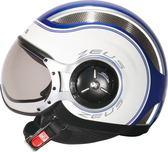 ZEUS瑞獅安全帽,ZS218,SS6/藍白