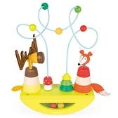 【法國 Janod】J08197 經典設計木玩 寶寶搖搖迷宮/繞珠