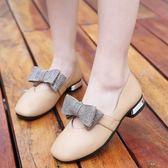韓版時尚豆豆公主鞋女孩單鞋兒童奶奶鞋