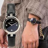 GUCCI Diamatissima 氣質藍寶石水晶鏡面真皮腕錶/22mm YA141506 熱賣中!