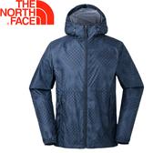 【The North Face 男 防風外套《藍色印花》】3CHA/防風外套★滿額送
