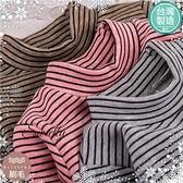 [台灣製造]台灣製中性款~禦寒保暖~立領細條紋發熱衣(厚棉,內刷毛)(300903)【水娃娃時尚童裝】