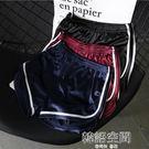 綢緞光面高腰修身白邊運動跑步短褲居家熱褲睡褲女夏 韓語空間