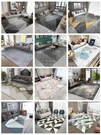 北歐風現代簡約地毯臥室客廳輕奢滿鋪床邊茶幾毯黑色地墊免洗家用   蘑菇街小屋