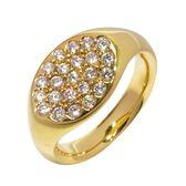 Tiffany & Co 蒂芬妮 18K黃K金鑽石戒指 9.5號 K18YG 【二手名牌 BRAND OFF】
