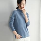 羊毛針織衫-半高領簡約純色保暖短款女毛衣3色73uj39【巴黎精品】
