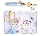 【愛麗絲票卡包】迪士尼 愛麗絲 票卡包 皮革 伸縮拉線 日本正品 該該貝比日本精品 ☆