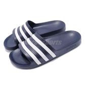 adidas 拖鞋 Adilette Aqua 藍 白 運動拖鞋 男鞋 女鞋 涼拖鞋 舒適好穿【PUMP306】 F35542