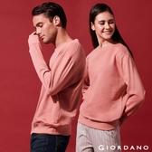 【GIORDANO】中性款素色寬鬆落肩大學TEE-92 薔葳粉紅