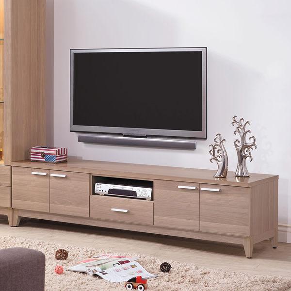 【森可家居】迪諾斯6尺電視櫃 7JX197-2 長櫃 木紋質感 無印北歐風