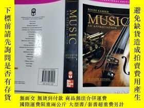 二手書博民逛書店Music:罕見An Appreciation 音樂:欣賞【稍有