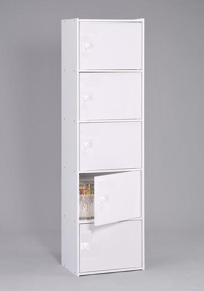 【品味玩家】白色五層門櫃 收納櫃 附門櫃