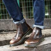 馬丁靴 擦色-英倫復古紳士品味男中筒靴3色73kw28【巴黎精品】