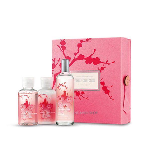 *禎的家* 英國 The Body Shop 珍愛原裝 日本櫻花禮盒 噴霧 乳液 沐浴精