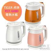 【配件王】日本代購 TIGER 虎牌 PCF-G080 電熱水瓶 快速煮沸 無蒸氣式 熱水壺 0.8L