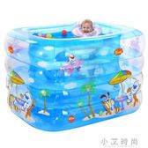 兒童洗澡池 嬰兒游泳池充氣保溫嬰幼寶寶游泳桶家用洗澡桶新生兒浴盆 小艾時尚 igo