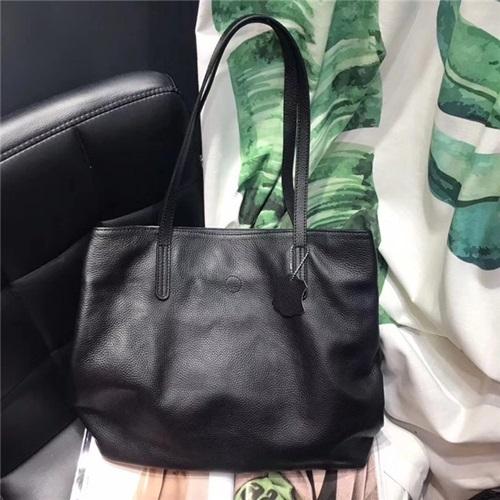真皮手提包-純色簡約牛皮托特包女肩背包5色73yc21[巴黎精品]