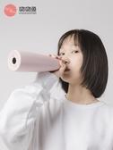 吻吻魚KKF保溫杯男女士大容量戶外便攜學生創意個性水杯子不銹鋼