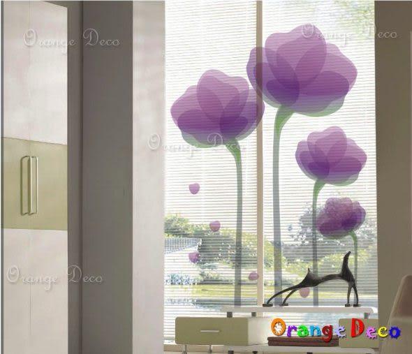 壁貼【橘果設計】紫蓮 DIY組合壁貼/牆貼/壁紙/客廳臥室浴室幼稚園室內設計裝潢