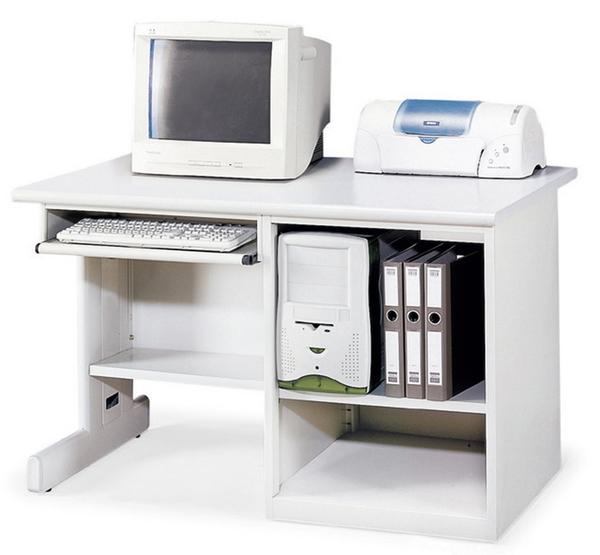 【IS空間美學】直立式電腦桌(附插座/兩款尺寸可選)
