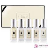 Jo Malone 年度熱銷款5入香水禮盒[青檸羅勒+小蒼蘭+黑莓+藍風鈴+鼠尾草](9mlX5)【美麗購】