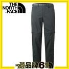 【The North Face 男 彈性兩截長褲《深灰》】3CH5/休閒長褲/防潑水/春夏款